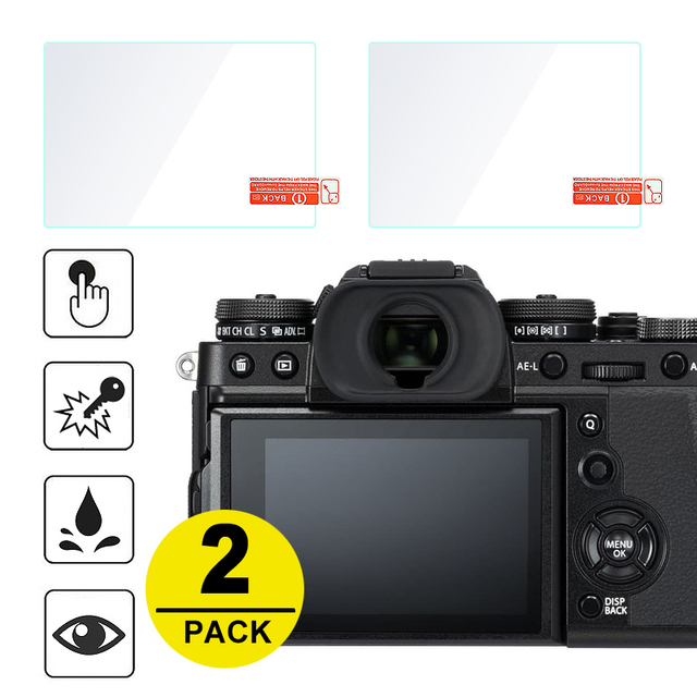 2x Tempered Glass Screen Protector for Fujifilm X T3 X H1 X T2 X T1 X T100 X T20 X T30 XF10 X E3 X70 X Pro2 X Pro1 X100T X100F