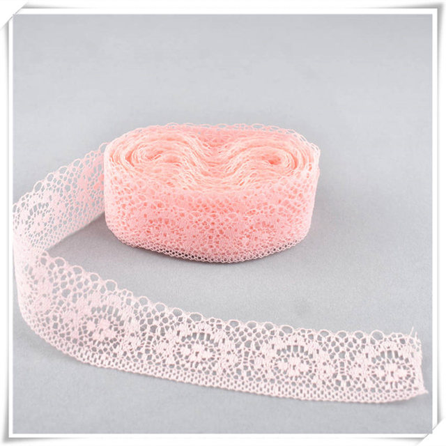 New High quality 10yards lace Ribbon tape width 4CM DIY embroidery net Sewing Decoration clothing lace Trims African lace fabric
