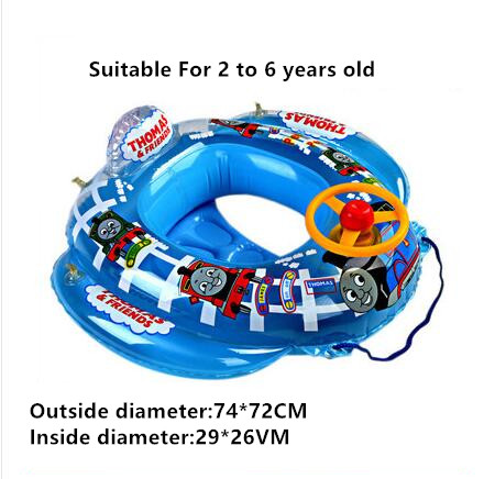 Children Safe Inflatable Float Boat Toys Baby Cute Cartoon Car Pattern Swimming Pool Kids Fun Water Sports Game Summer Gift