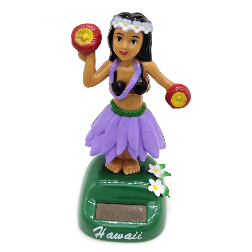 Солнечный танцующий Гавайский девочка хула качающаяся голова игрушка авто Интерьер декомпрессия приборной панели украшения автомобиля аксессуары для автомобиля - Цвет: E