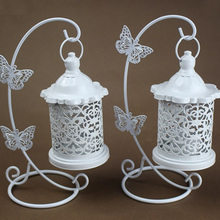 European Wrought Iron Hollow Candlestick Butterfly Hook Decorative Ornaments
