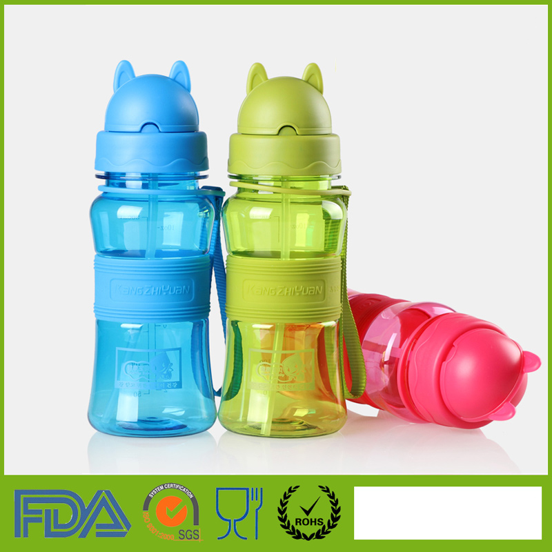 300ml My Drinking Water Bottle With Straw For School Children Kids Baby Cute Plastic Portable Sports Travel Tumbler Leak Proof