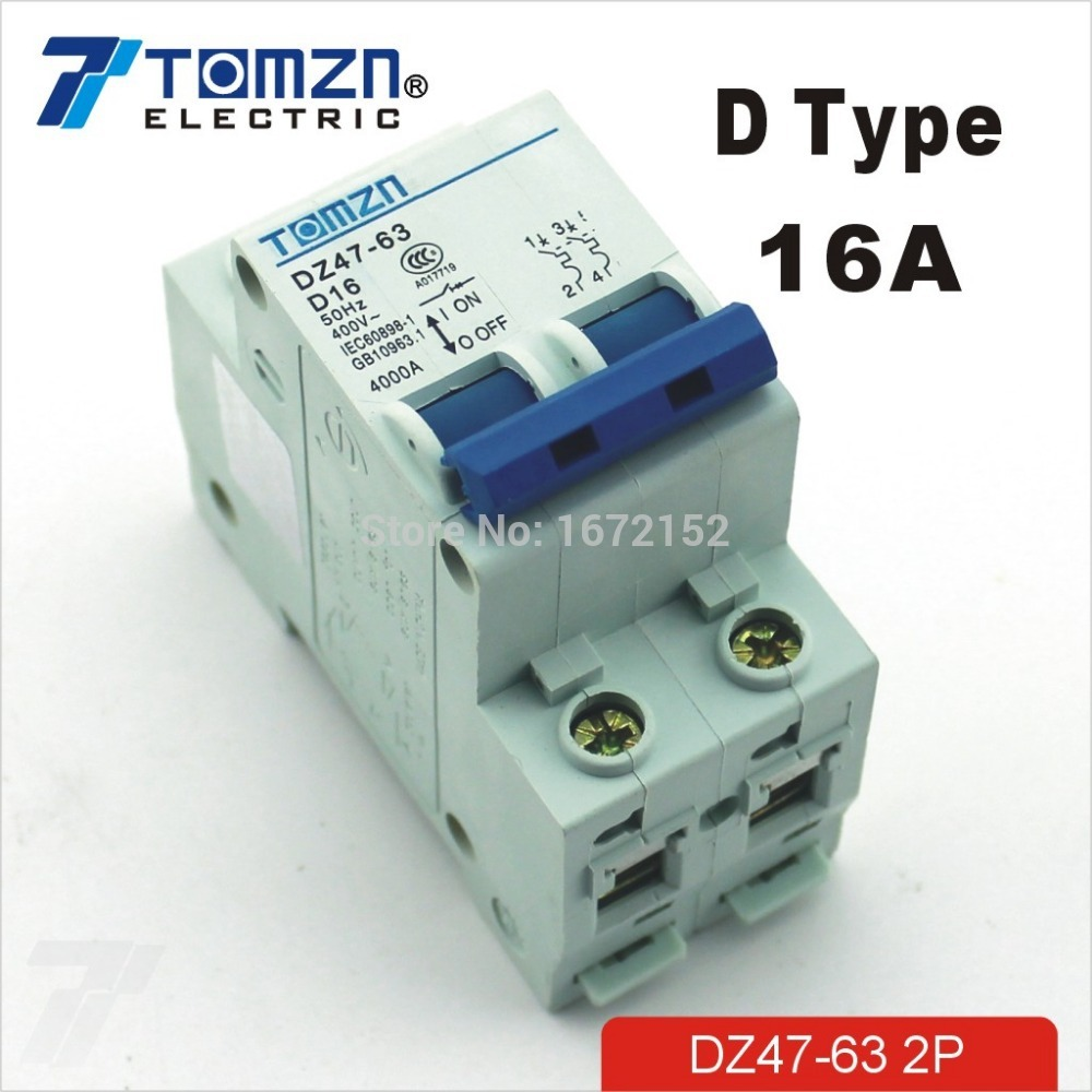 2p 16a D Type 240v 415v 50hz 60hz Circuit Breaker Mcb Safety Image In Breakers From Home Improvement On Alibaba Group