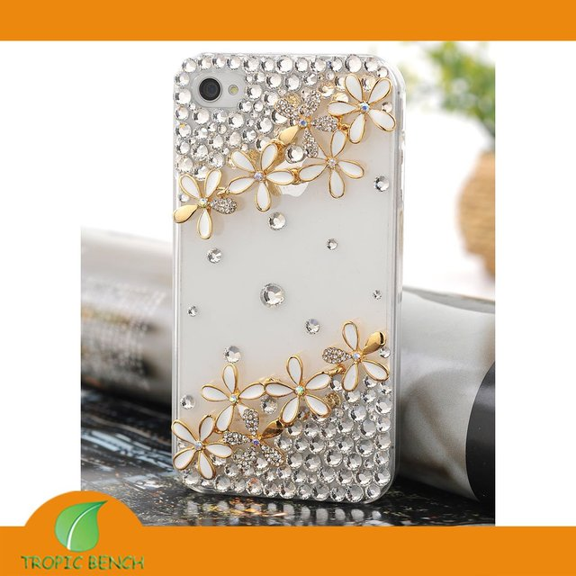 9aab5eb191d0 DESIGNER PHONE CASE-Vans Crystal Bling 10pcs Flower Cell Phone Cover Case  For iPhone 4 4S