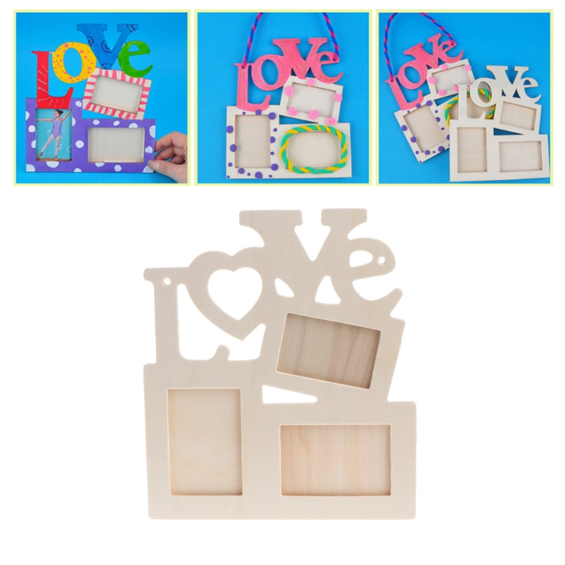 Love Diy Photo Frame Tri Ply Painting Picture Holder