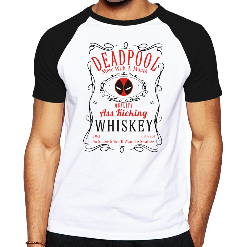 New Design Canada Deadpool T Shirt Men Funny Superhero
