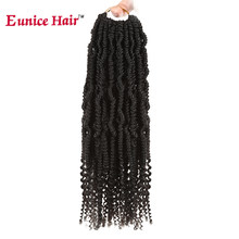 "Eunice cheveux 14 ""bombe crépus torsion Crochet cheveux synthétique moelleux Extension de cheveux SpringTwist tressage cheveux Nubian torsion 24 brins(China)"