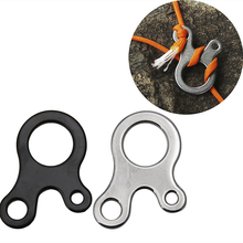 3 Holes Stainless Steel Hook Carabiner Keychain Camping Hiking Multifunction