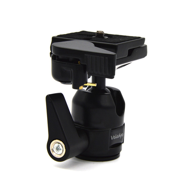 Ball Head Tripod Monopod Ball Head 360 Degree Fluid Rotation For Canon Nikon Sony DSLR Video Head Quick Release Plate