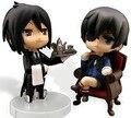 2 Estilos Nendoroid Ciel Kuroshitsuji Black Butler Sebastian Michaelis PVC Modelo Brinquedos Figura Boneca Com Caixa Frete Grátis