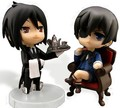 2Styles Nendoroid Kuroshitsuji Black Butler Sebastian Michaelis Ciel PVC Model Toys Figure Doll With Box Free Shipping
