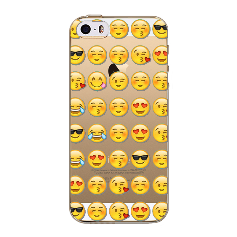 Case Cover For Apple Iphone 5c Cartoon Smile Face Facebook Emoji