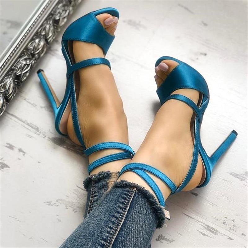 Navy Blue Strappy Heels
