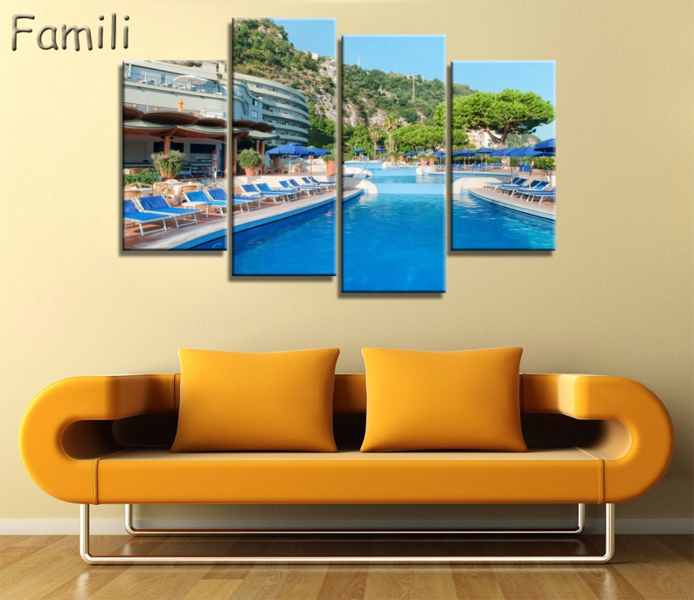 4Panel Beautiful landscape In Italy Modern For Home Decor Paintings ...