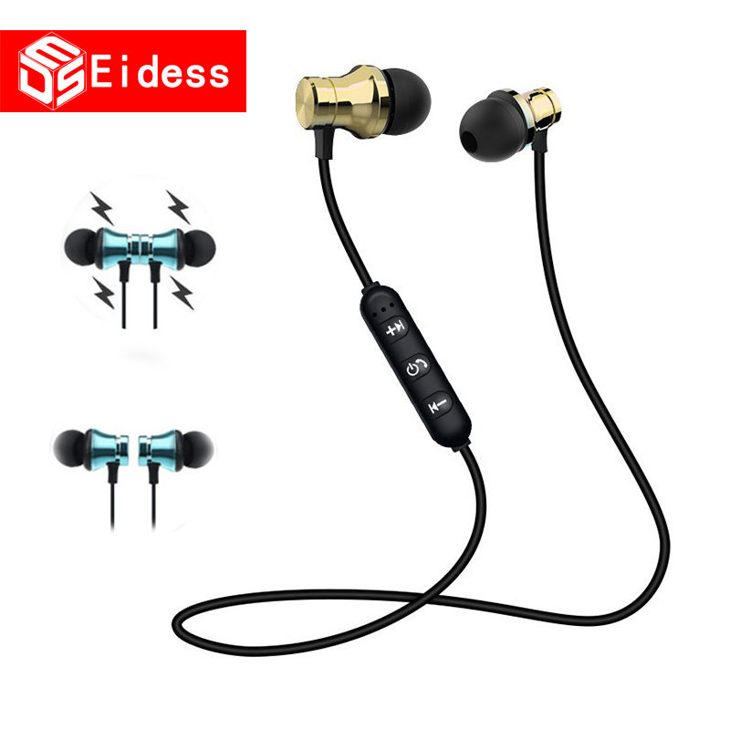 Magnetic Wireless Bluetooth Earphone Stereo Sports Waterproof Earbuds Wireless In-ear Headset With Mic For IPhone Samsung Xiaomi