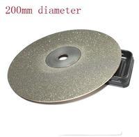 KItchen Knife Diamond Plate Whetstone Round Diamond Chassis Sharpener For Knife Polishing Tools 200mm 60 80