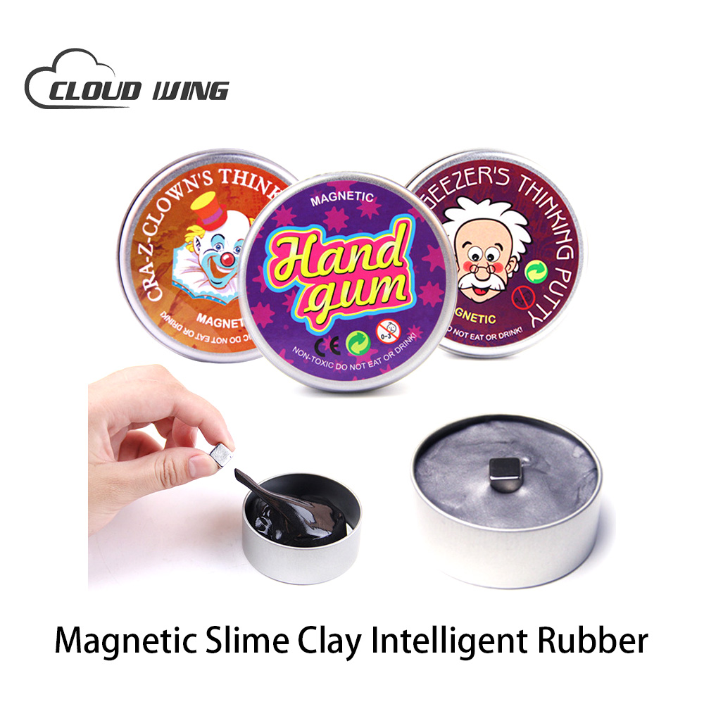 DIY Magnetic Slime Polymer Clay Intelligent Rubber Magnet Plasticine Mud Hand Gum Silly Putty Puzzle Educational Toys For Kids