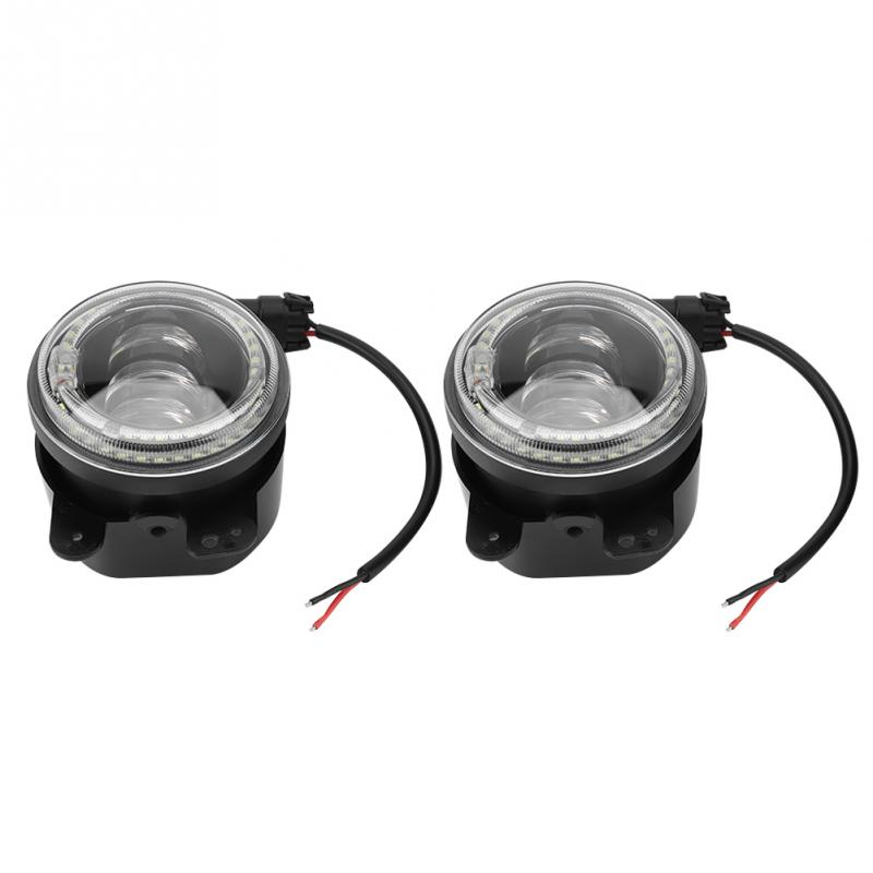 2Pcs 4inch 30W Led Fog Light DRL Fit for Jeep Wrangler LJ JK TJ Dodge Car Accessories Car Styling