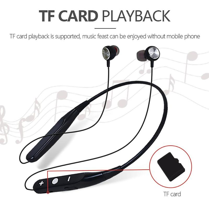 733 Wireless Magnet Design Mic Bluetooth 4.1 Earset Neck-hanging Sport Earphone Control Headset Magnet Design