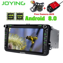 Joying 8″Android Car Radio Stereo Head Unit GPS For Volkswagen VW Skoda POLO GOLF PASSAT Support Air-Condition Multimedia Player