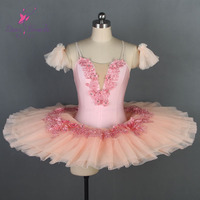 BLL069 Dance Favourite New Ballet Tutu Pre porfessional Ballet Costume Pancake Tutu Girl & Women Pale Pink tutu