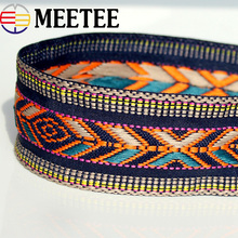 2Yards 5CM Polyester Cotton Flower Embroidered Webbing For Bag Straps Women Collar Lace Ribbons Trims Garment Accessories