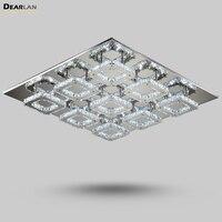 Современные прямоугольник квадратный светодиодный Кристалл Потолочный светильник роскошный кристалл лампы Блеск светильник для Гостиная