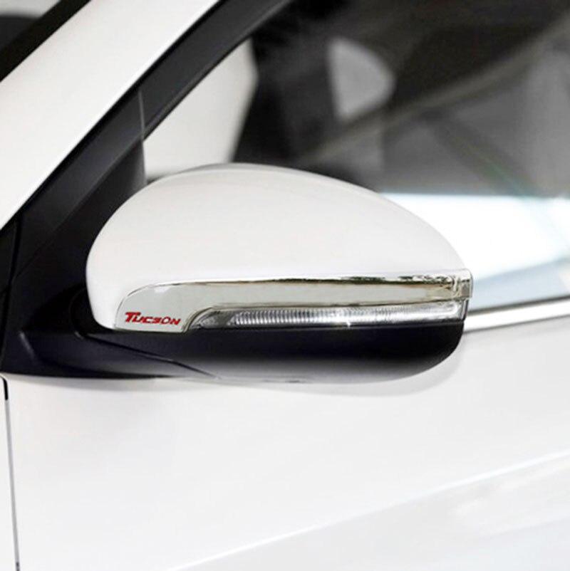 Prix pour Pour Hyundai Tucson 2016 2017 Chrome 2 pcs De Voiture Extérieur Côté Rétroviseur Miroir Protecteurs Moulure Accessoires