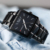 Nova Moda Dos Homens de Negócios de Quartzo Relógios Top Marca de Luxo Curren Relógios dos homens Relógio De Pulso Homem de Aço Completo Relógio Quadrado Masculino Relogio
