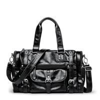 New PU Men's Handbags Trendy Style Multi functional Shoulder Diagonal Travel Bag