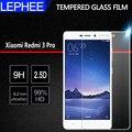 Lephee xiaomi redmi 3 s redmi 3 pro protector de pantalla de vidrio templado explosión película xiomi para xiaomi redmi 3 s 3 s x vidrio 5.0''