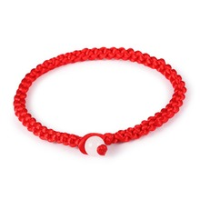 Simple Red Rope Handmade Knot Bracelets Bangles For Women Men Children Classic Lovers Gift Jewelry DropShipping