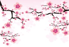 цены Laeacco Plum Blossom Painting Portrait Scene Baby Photography Backdrop Customized Photographic Backgrounds Wall For Photo Studio