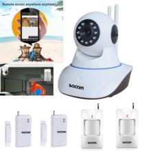 SACAM Wireless IP Camera 960P WiFi Alarm System Home Burglar Door Security PIR Sensors Network Video Surveillance Intruder Kit