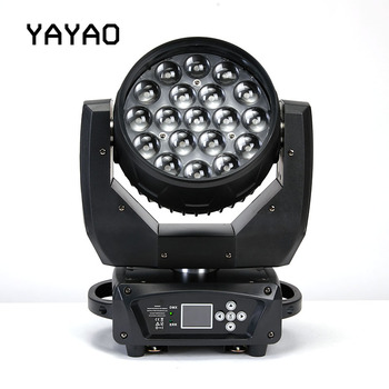 YA Yao 19X15W LED Zoom Moving Head Light RGBW Wash Effcect Light for DJ Party Disco Clubs Equipment Screen Stage Light цена 2017