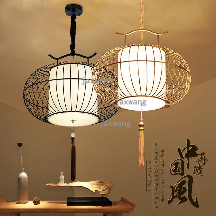 Chinese Pendant Lights Loft Dining Living Room Pendant Light Stair Iron Decor Lantern Cafe Study Luminaria Kitchen Hanging Lamps