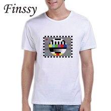 TV Signal T-Shirt Men Tee Sheldon Cooper T Shirts Comic Science Geek Tshirt The Big Bang Theory