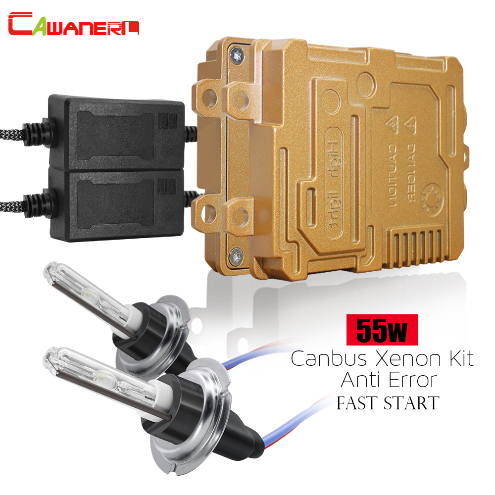 Cawanerl 55W Canbus HID Xenon Light Kit Ballast + Bulb No Error Fast Start 12V Car Headlight Fog Light H1 H3 H7 H8 H11 9005 9006