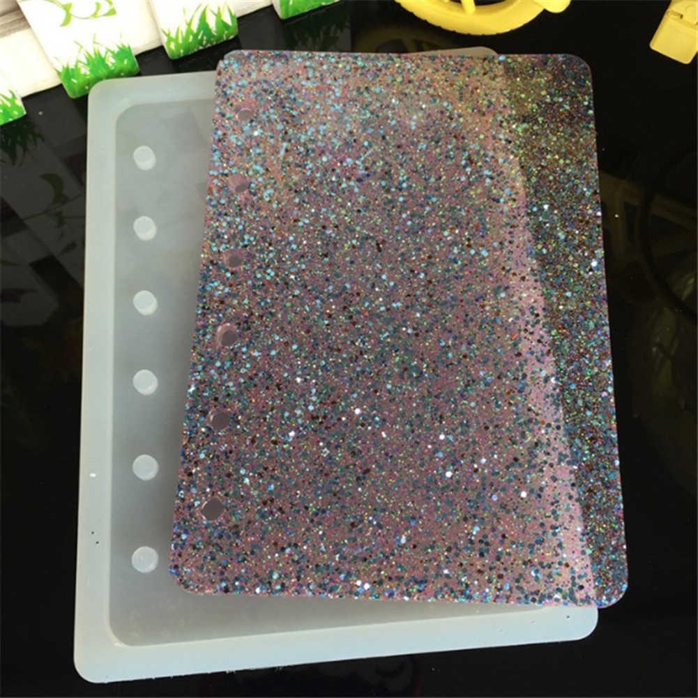 Livro Molde de Silicone A7 Notebook Tampa Fazendo DIY Handmade Resina Epóxi Ofício Ferramenta moda