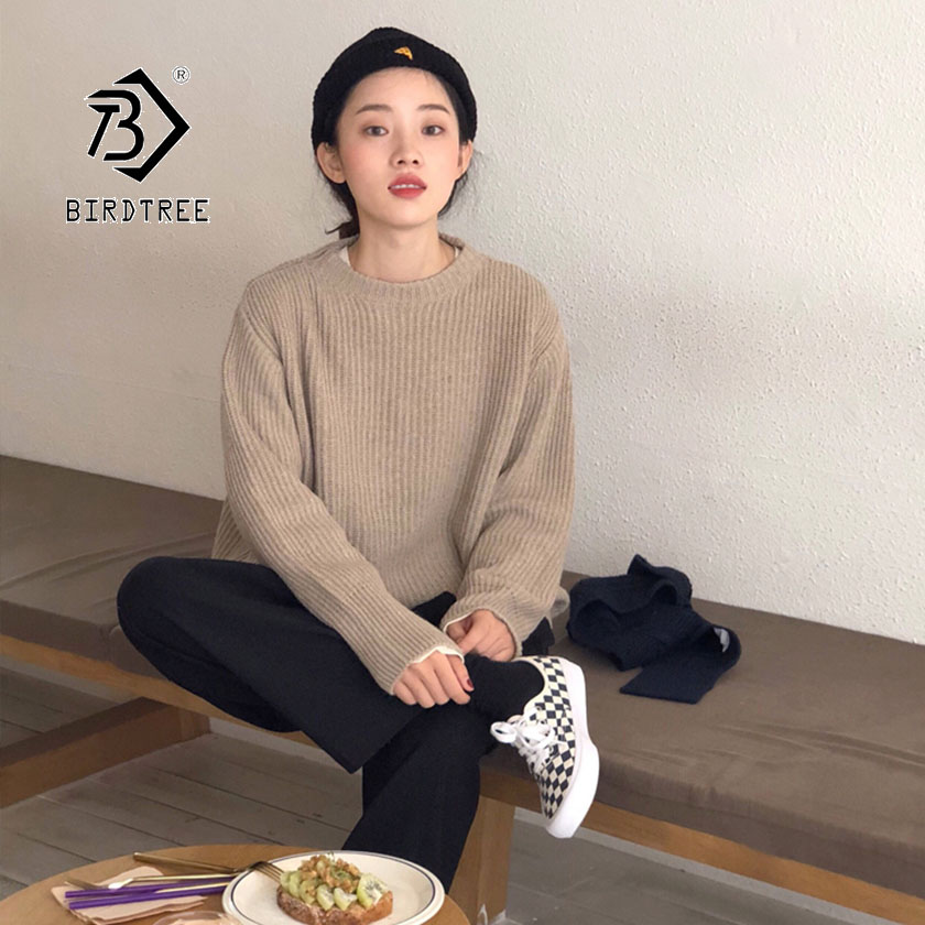 2019 Autumn New Women's Pullovers Sweater Full Sleeve O-neck Knitting Basic Wear Casual Fashion Korean Style Hot Sale T97403D