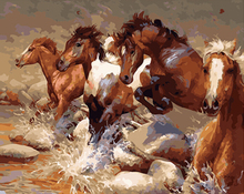 """DIY Painting By Number – Running Horse (16""""x20"""" / 40x50cm)"""