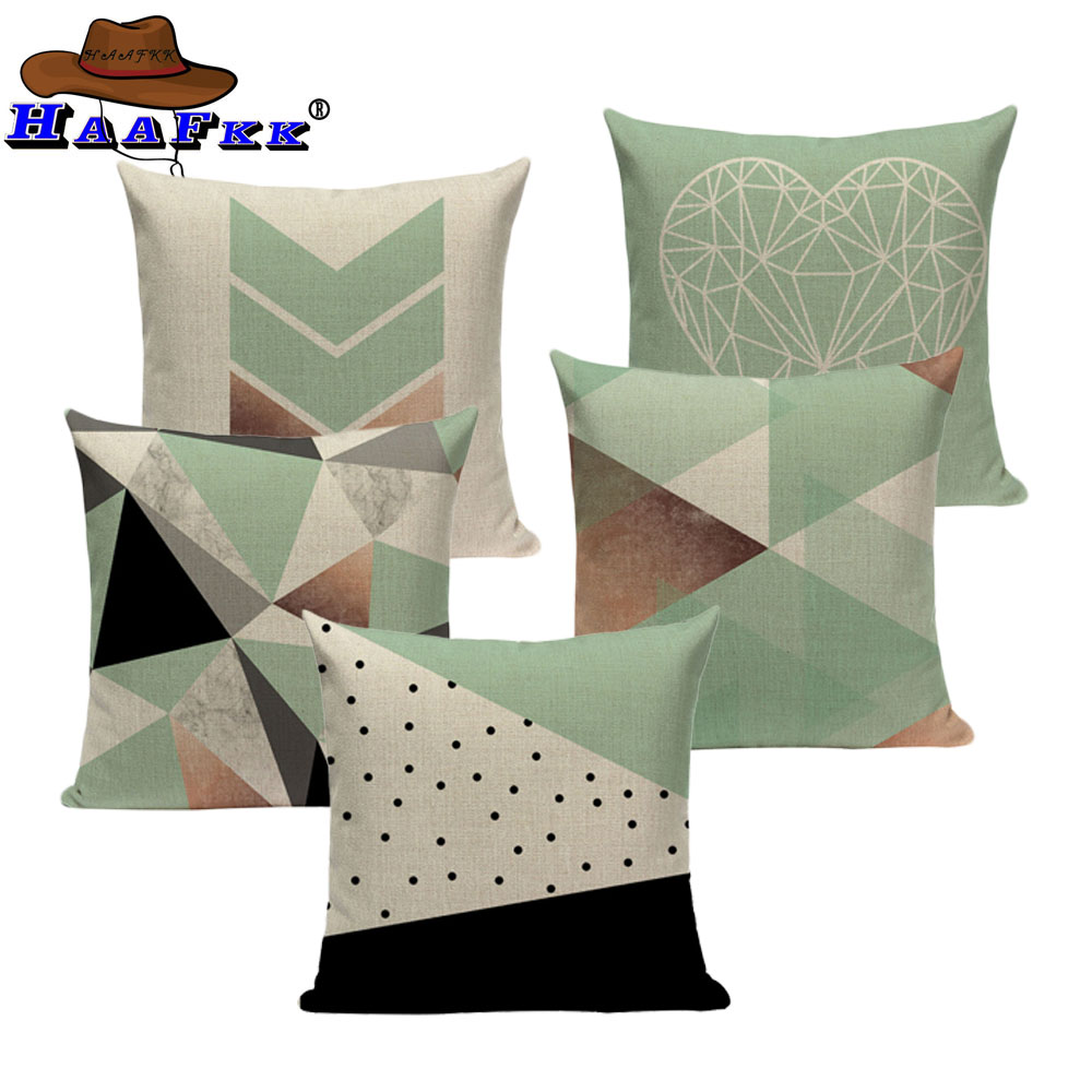 Moderne Kissenhüllen Geometric Tropical Pillow Cushion Teal Blue Pillow Decorate Modern