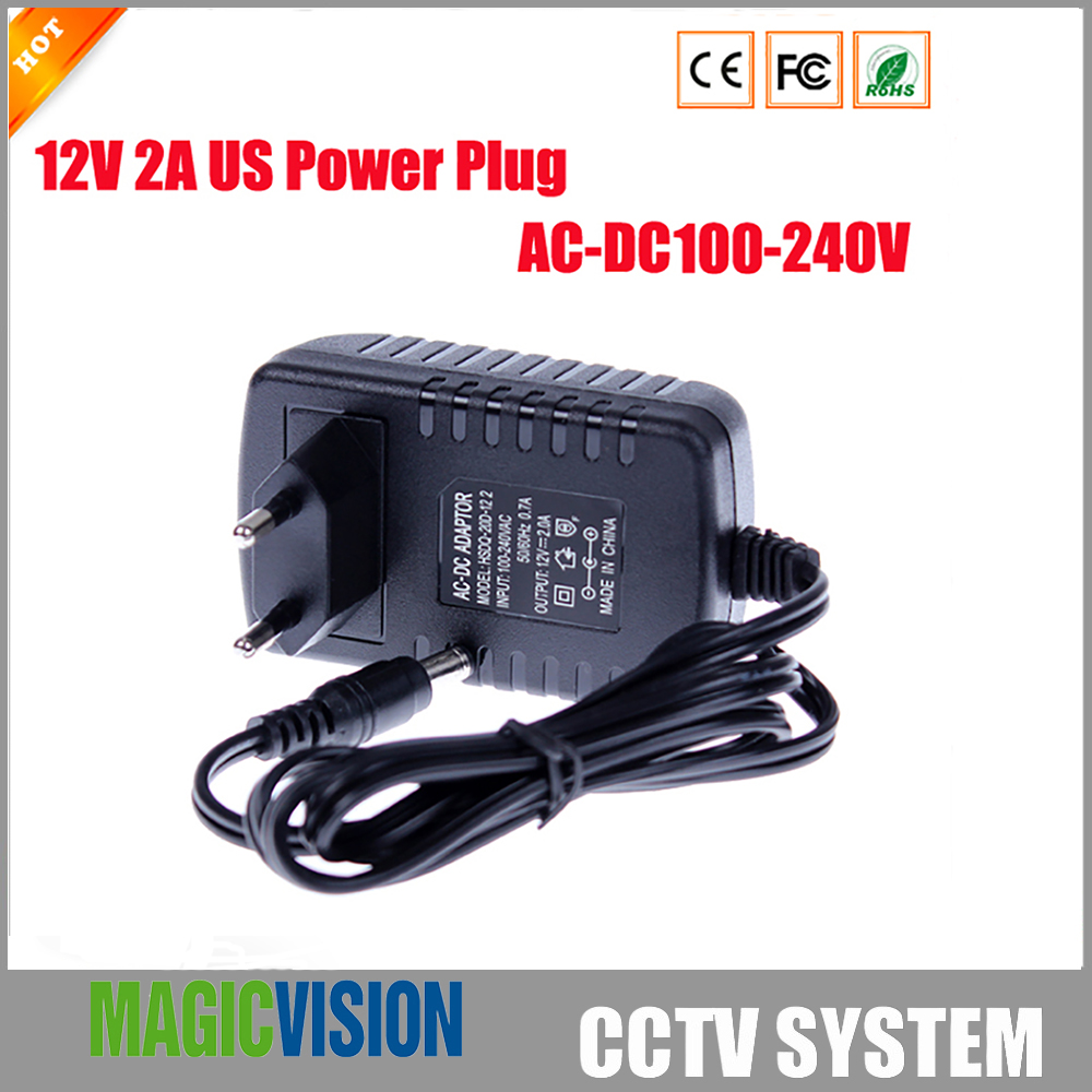 EU Type AC/DC Adapters Power Plug Adaptor For CCTV Camera with LED Strip Support AC 100-240V to DC 12V 2A ac to dc 12v 1a power adaptor with 5 4mm dc plug eu type 110 240v