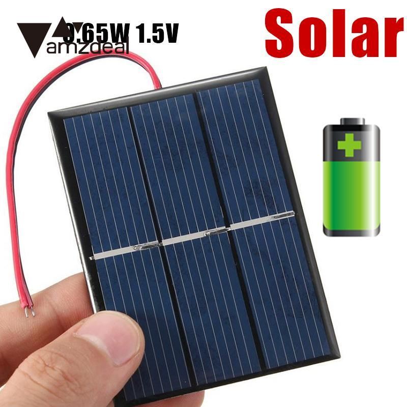 Amzdeal 0 65w 1 5v Solar Power Cell Charger Panel Diy