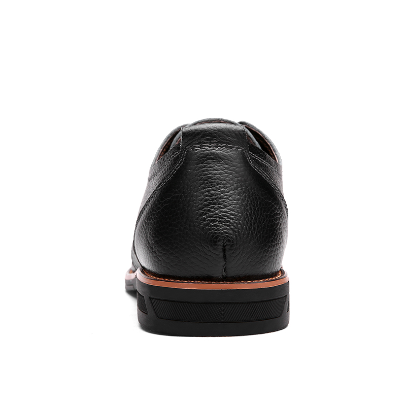 e5f87be52ce4d VMUKSAN marca Negocio zapatos hombre Cuero partido de Vaca zapatos hombre  vestir 2017 Atarse los cordones vestidos calzado hombre en Calzado vestir  de ...