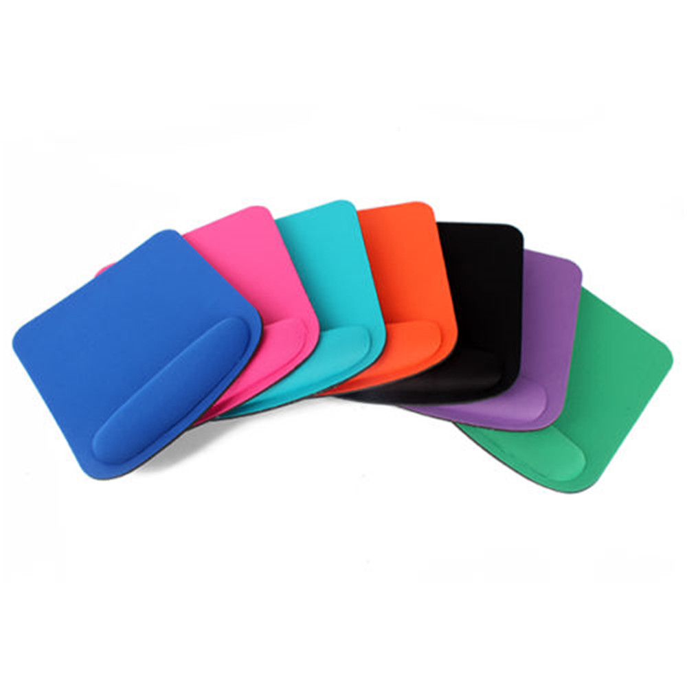 Wrist rubber Mouse Pad Mat Optical Trackball Mouse pad With Wrist Rest Mice Pads For Computer Gaming 7 colors