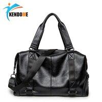 Top PU Leather Men's Sports Bag Multifunction Fitness Training Travel Shoulder Handbags Hidden Zipper Gym Bags For Male