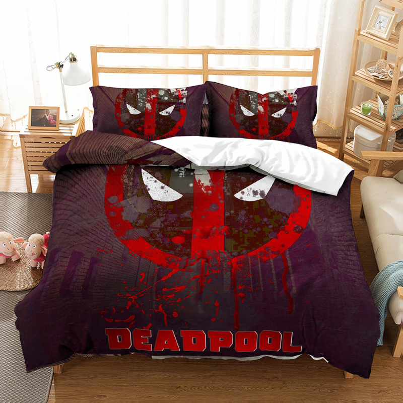 Marvel Deadpool 3D Bedding Set Bed Linens Duvet Covers Pillowcases Suicide Squad Comforter Bedding Sets Bedclothes Bed Linen