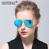 ROUPAI Brand Unisex Sunglasses 2017 Vintage Women Men Polarized Sun Glasses Coating Mirrored Oculos Eyeglasses For
