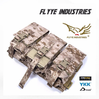 FLYYE MOLLE Combo Tri M4/Dual 9mm MAG Pouch Military camping modular combat CORDURA M031